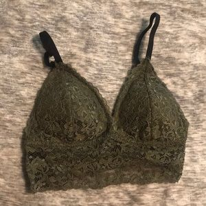 b30236d2cb9f6 Super cute new olive green lace xoxo lace bra